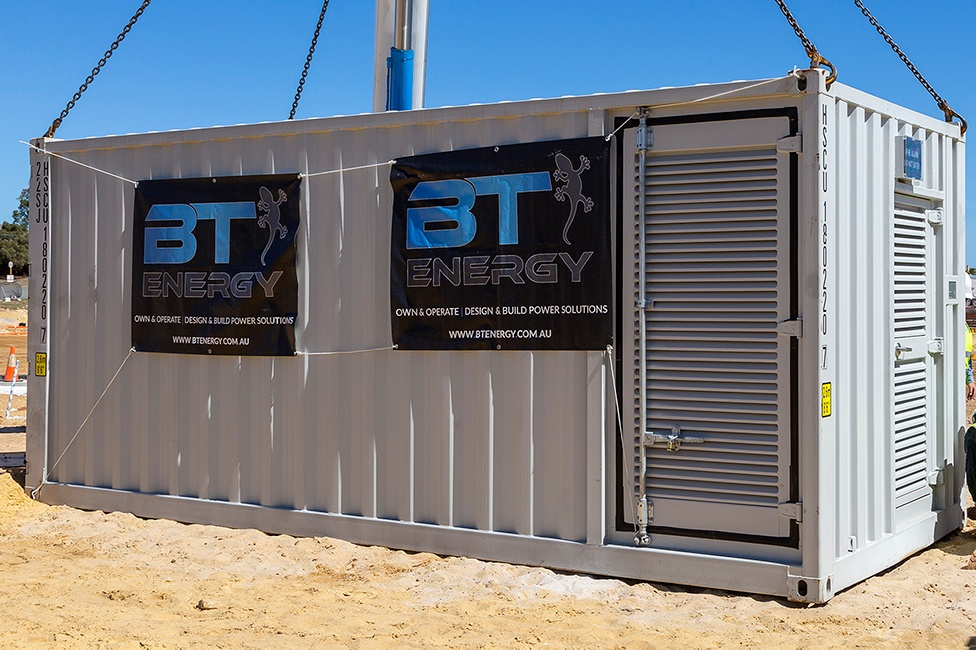 BT Energy Battery Energy Storage System (BESS) Technology at East Village Knutsford Fremantle Western Australia Projects