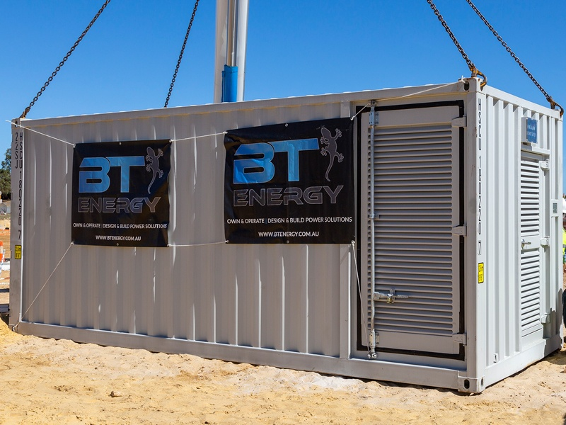 BT Energy Battery Energy Storage System (BESS) Technology at East Village Knutsford Fremantle for Power Ledger and Landcorp